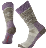 Smartwool Women's Hunt Camo Medium Crew Socks - Purple Bordeaux