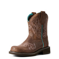 Ariat Women's Fatbaby Heritage Heavenly Western Boot - Brown