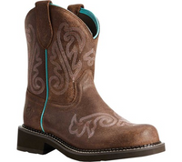 Ariat Women's Fatbaby Heritage Heavenly Western Boot - Brown