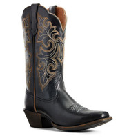 Ariat Women's Round Up Square Toe Western Boot - LIMOUSINE BLACK