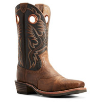 Ariat Men's Heritage Roughstock Western Boot - Sorrel Crunch Brown