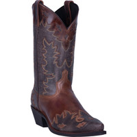 Laredo Men's Nash Leather Snip Toe Boot - Chocolate