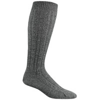 Wigwam Cable Knee High Medium Grey Heather Socks