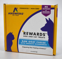 Answers Rewards Goat Cheese with Blueberries Dog Treats 8oz
