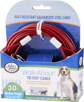 Four Paws Medium Tie Out Cable 30ft