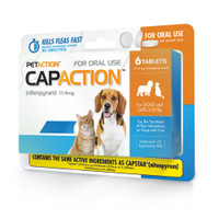 CapAction Flea Tabs for Dog & Cat 6 Pack