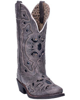 Laredo Women's Queen of Diamonds Black Western Cowboy Boot