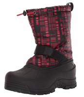 Northside Boys Frosty Winter Snow Boot Charoal/Red