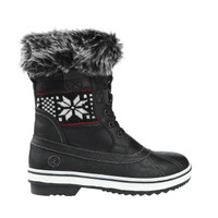 Northside Women's Brookelle Faux Fur Lined Boot - Black