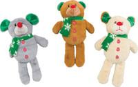 Ethical Pet Holiday Bear/Dog/Moose Dog Toy Assortment