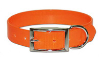 Leather Brother Orange Solid Poly Dog Collar 3/4""