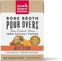 Honest Kitchen Bone Broth Pour Over Beef Stew Wet Dog Food Topper 5.5oz