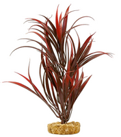 Blue Ribbon Pet Color Burst Florals Gravel Base Sword Plant - Red