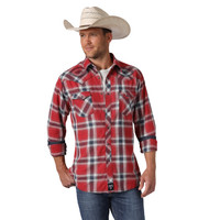 Wrangler® Men's Rock 47® Long Sleeve Shirt  - Red/Navy