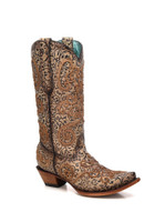 Corral Women's Nude Embroidery Chameleon Sun Effect Western Boot