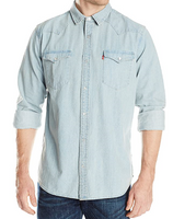 Levi Men's Barstow Western Shirt – New Age Bleach