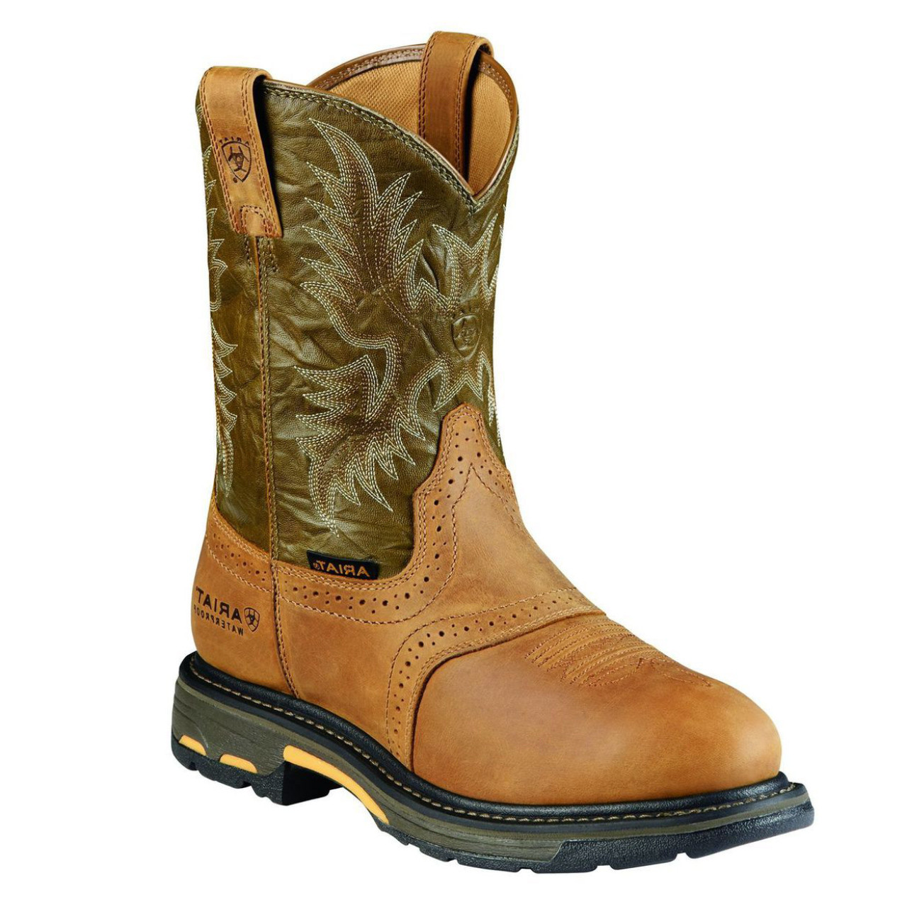 749cb4e78a1 Ariat Men's Workhog Pull-on Waterproof Composite Toe Work Boots - Tan