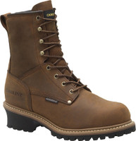 "Carolina Men's 8"" Waterproof Insulated Logger Work Boots - Brown"
