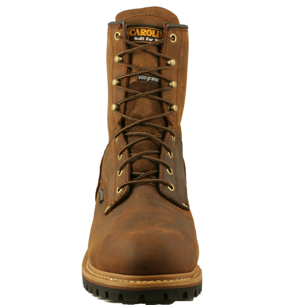 "c1137596f8a Carolina Men's 8"" Waterproof Insulated Logger Work Boots - Brown"