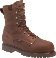 "Carolina Men's 8"" Waterproof 800G Insulated Composite Toe Grizzly Work Boots - Brown"