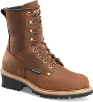 Carolina Men's 8'' Waterproof Logger Work Boots - Brown