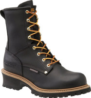 Carolina Men's 8'' Steel Toe Waterproof Logger Work Boots - Black
