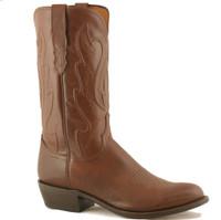 Lucchese Men's Tan Ranch Hand Calfskin Western Boots