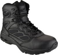 Thorogood Men's 6'' Nylon Side Zip Metal Free Uniform Work Boots - Black