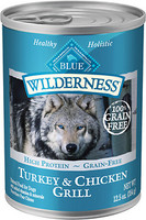 Blue Wilderness Turkey & Chicken Grill Canned Dog Food 12.5oz