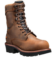 Timberland Pro Men's 8in Rip Saw Logger Steel Toe Waterproof Work Boots - Brown