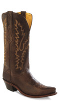 Jama Old West Women's Snip Toe Cowboy Boots - Chocolate