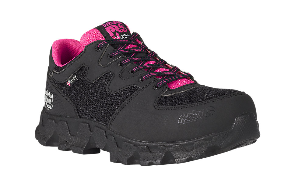 2db8fb1837d Timberland Pro Women's Powertrain Alloy Toe ESD Work Shoes - Black/Pink