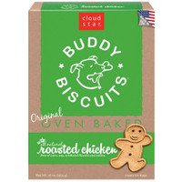 Cloud Star Original Oven Baked Buddy Biscuits with Roasted Chicken Dog Treats 16-oz bag