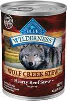 Blue Wilderness Wolf Creek Stew Hearty Beef Stew Grain-Free Adult Canned Dog Food, 12.5-oz