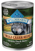 Blue Wilderness Wolf Creek Stew Hearty Duck Grain Free Adult Canned Dog Food 12.5oz