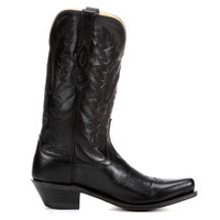 Jama Old West Men's Snip Toe Western Boot - Black