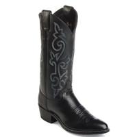 Justin Men's Calf Western Boot - Black