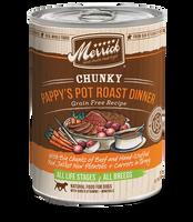 Merrick Chunky Pappy's Pot Roast Grain Free Canned Dog Food