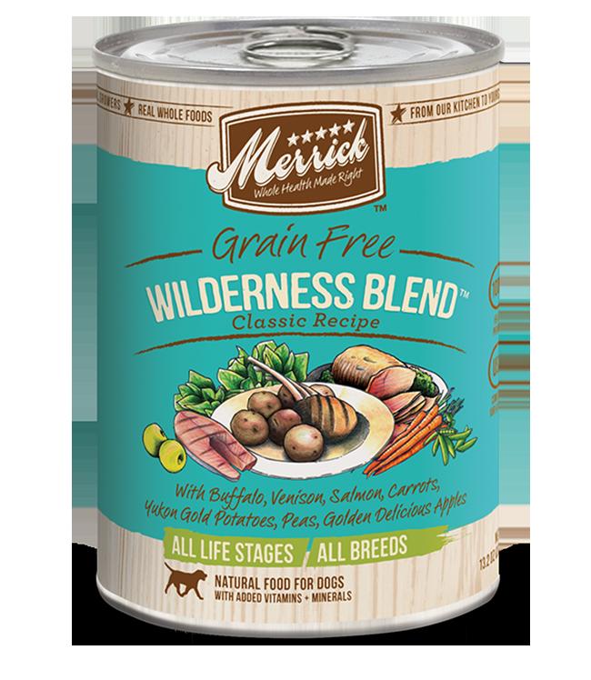 Merrick Wilderness Blend Grain Free Canned Dog Food Chaar