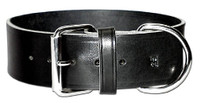 """Leather Brother 2"""" Leather Collar Plain -  Black"""