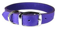 """Leather Brother Luxe Collar Violet 1/2"""" Violet"""
