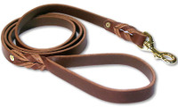 Leather Brother 6ft Latigo Twist Lead Nickel 3/4 - Burgundy