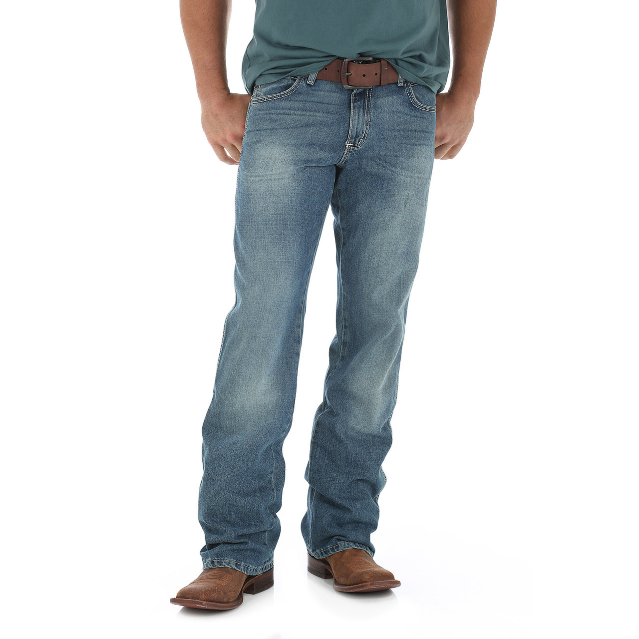294cb8a3 ... Mens; Wrangler Retro Relaxed Boot Cut Jean - Rocky Top. Image 1