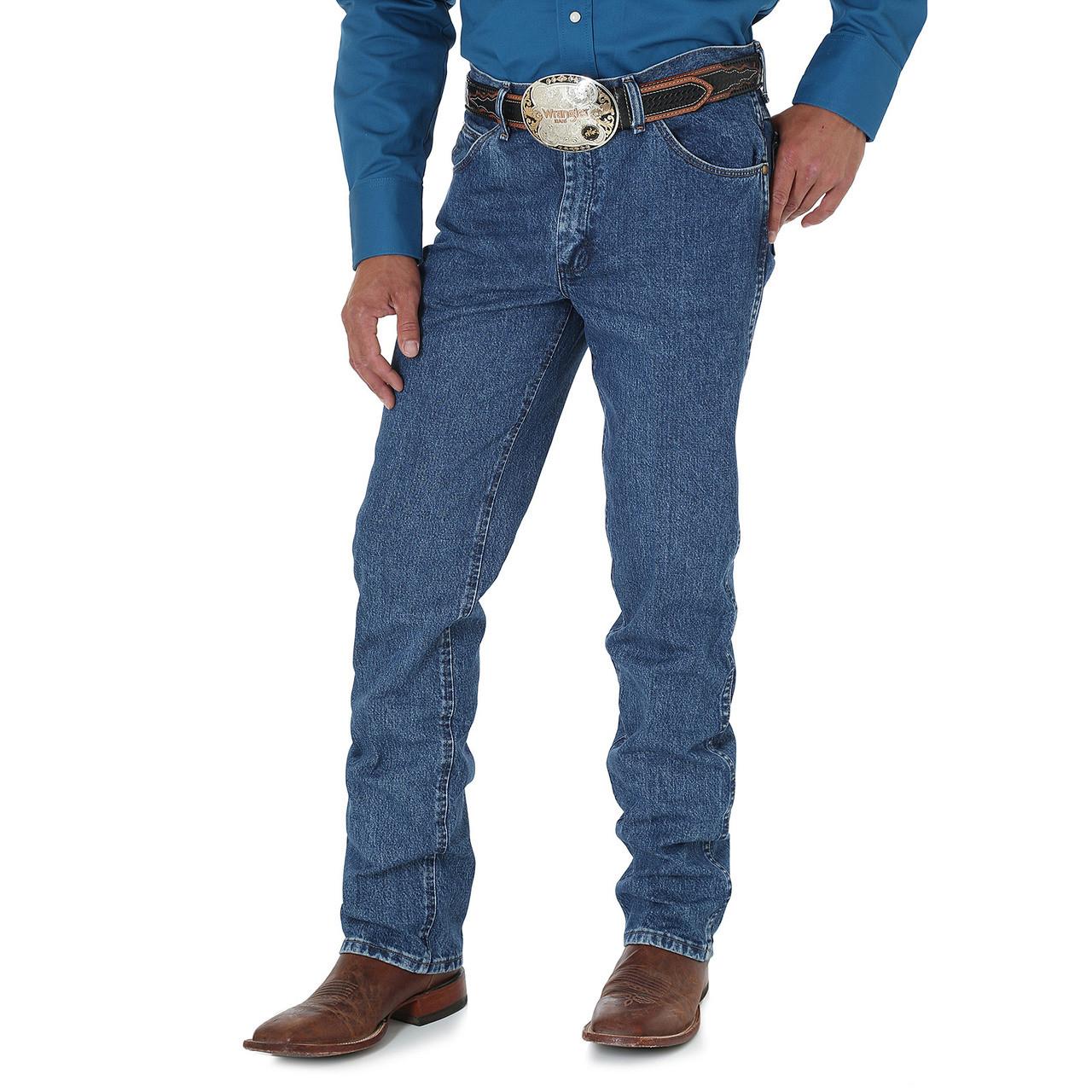 105063cb ... Wrangler Premium Performance Cowboy Cut Slim Fit Jean - Dark Stone.  Image 1