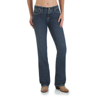 "Wrangler Cowgirl Cut Ultimate Riding ""Booty Up""  - Q-Baby Jean - Dark Wash"