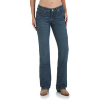 "Wrangler Cowgirl Cut Ultimate Riding ""Booty Up"" Q-Baby Jean - Medium Stonewash"