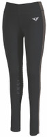 TuffRider Ladies Ventilated Schooling Tights - Black/Grey