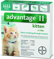 Advantage II Flea Treatment for Kittens 4 pack