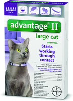 Advantage II Flea Treatment for Large Cats 4 pack