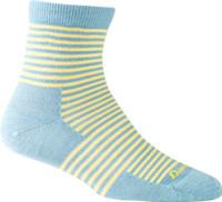 Darn Tough Women's Mini Stripe Shorty Light Socks - Aqua